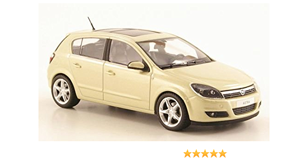 Opel Astra H 5 Door Metallic Light Beige Model Car Ready Made Minichamps 1 43 Model Spielzeug