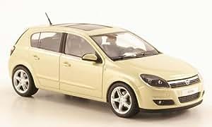 Opel Astra H, 5-portes , metallic-beige clair, voiture miniature, Miniature déjà montée, Minichamps 1:43