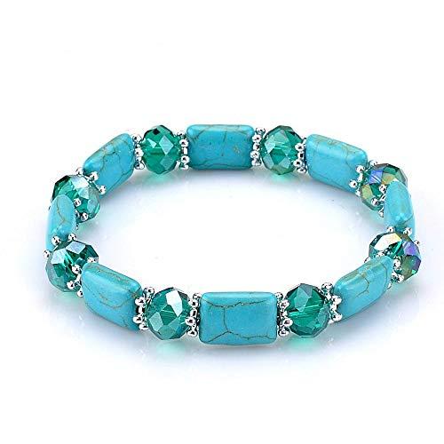 Ysdtlx uomini e donne modelli braccialetto di cristallo gioielli turchese fatti a mano con perline bracciali europa e stati uniti mescolare e abbinare, 5