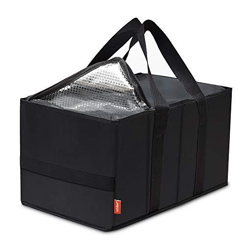 achilles Smart-Box Cool, Einkaufskorb mit Kühleinsatz, Kühlkorb Einkaufskorb Faltkorb in schwarz, 37 cm x 20 cm x 23 cm
