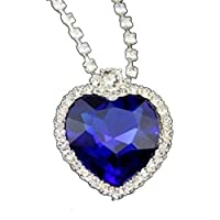 Titanic Heart of the Ocean Pendant Necklace
