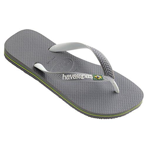 Havaianas Herren Havianas Brasil Mix Lässig Gummi Schlüpfen Brasilien Flip-Flops - Stahlgrau - 43/44 (Brasilien-flip-flops)