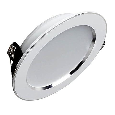 HJ® 10 Stück 3W LED Einbaustrahler für den Wohnbereich Warmweiß Einbauspots | Flach | Rund | Einbauleuchten