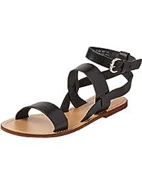 Springfield 5.G.Sandalia BS Hebilla-Negra-Plan, Zapatos para Mujer