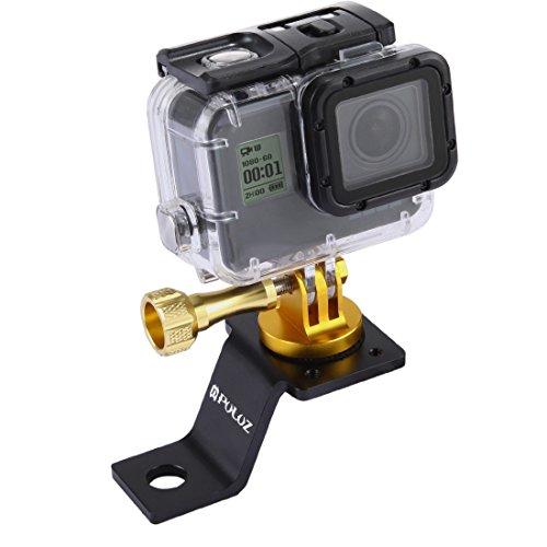puluz Zubehör Motorrad Spiegel/Bolzen Halterung starr Metall Fahrrad Unterstützung für GoPro Hero 54Sitzung schwarz silber 4332Sport Action Camera