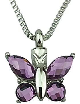 Schmetterling Urne Halskette - G