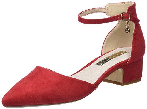 XTI 30749, Zapatos con Tacon y Correa de Tobillo para Mujer, Rojo (Red), 37 EU