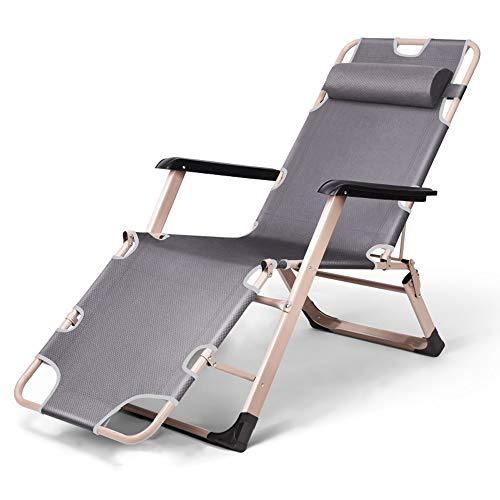 LCTCDD Übergroße Zero Gravity Lehnstühle mit Netzrücken, gepolsterter XL-Sitz, Verstellbarer Patio-Loungesessel mit Lordosenstützkissen und Unterstützung für Beistelltische (Farbe : B)