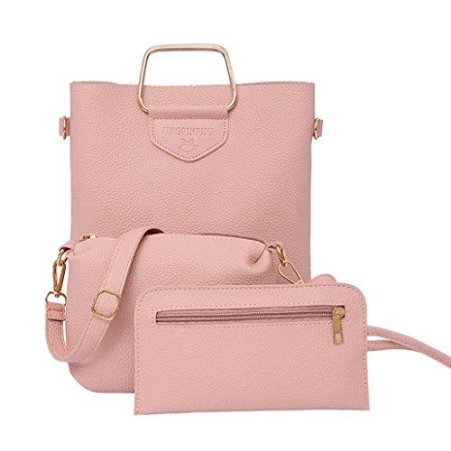 YOUBan Damen Handtasche Mode Handtasche Frauen drei Sätze Tasche Schultertaschen Einkaufstasche mit drei Stücken Crossbody