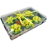 Urvi Creations Set Of 6 Flower Shape Floating Candles For Diwali Home Decor - Multi Color