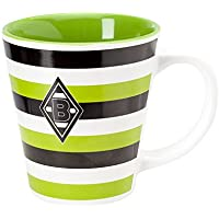 Unbekannt VFL Borussia Mönchengladbach Fohlenelf-Artikel - Tasse Stripes - Keramik Kaffee, weiß, One Size