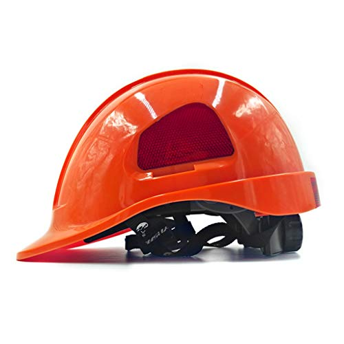 HU ABS Elektriker Schutzhelm Baustelle Belüftung Atmungsaktive Crash Cap (Color : Orange) (Ski-helme Brennen)