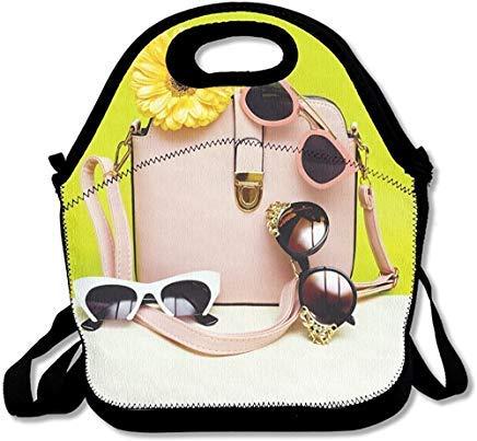 Wählen Sie Ihre Sonnenbrillen Ihren Stil in der Jahreszeit, Damen, modisches Accessoire, lustige Neopren-Lunch-Taschen mit Schultergurt, für Damen, Herren, Kinder, Picknick-Box