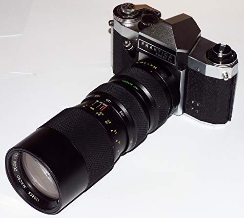 Galleria fotografica Fotocamera SLR analogica PRAKTICA super TL con obiettivo ITOREX Macro Zoom 1:3.5 F = 80-200 mm Ø 62 mm - la fotocamera si dissolve