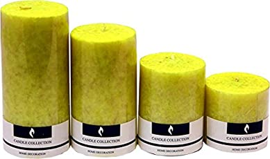 Real Store Scented Candles Set of 4 (Yellow)
