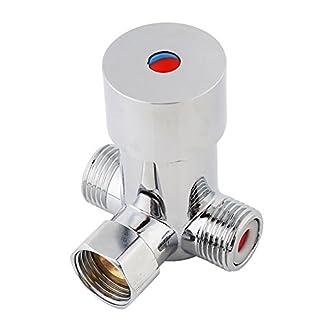G1/2 Válvula de Mezcla de Agua Fría Caliente Válvula de Control de Temperatura Termostática de 3 Vías del Mezclador paraBaño Automático Sin Contacto de la Grifería