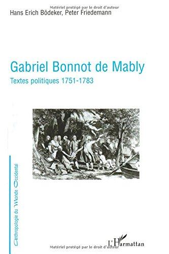 Free Gabriel Bonnot De Mably Textes Politiques 1751 1783 Pdf