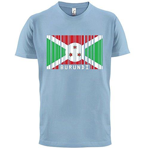 Burundi / Republik Burundi Barcode Flagge - Herren T-Shirt - 13 Farben Himmelblau
