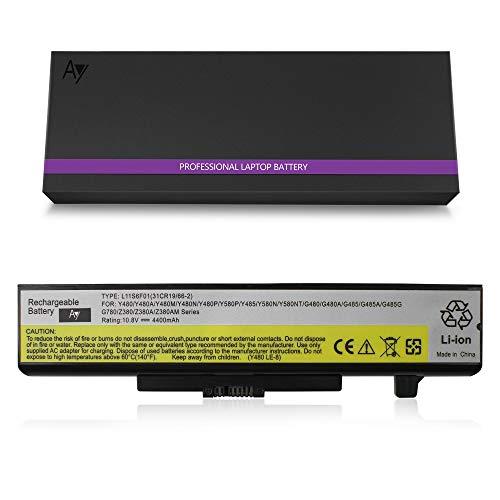 Lenovo G480 Batterie[10.8V / 4400mAh], AYIPE Hochleistungs-Ersatz-Laptop-Akku für G480 G580 Z380 Z480 Z580 Z585 Lenovo IdeaPad Y480 Y580 Serie, L11S6Y01 L11L6Y01 45N1043