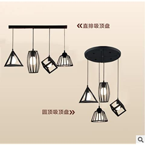Personalizzare il pranzo creative lampadari, triangolo industriale . creative minimalista lampadari di ferro , , disco lungo Combo, piccoli lampadari