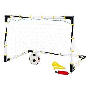 ColorBaby- Set portería Plegable + balón de fútbol + hinchador, 100 x 81 x 81 cm (43690)