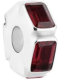 Nena Lina desembarcarán rojo de plata de ley 925 bead, también compatible con Pandora pulseras, 718046-002