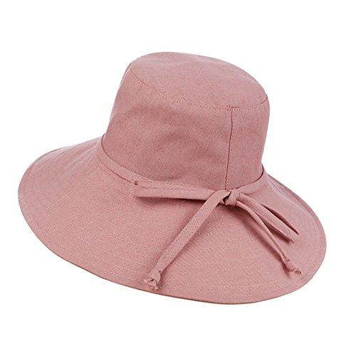 Qchomee - Sombrero plegable con forma de sombrero de sol UPF 50 + cubo  gorra amplia 43985d162345