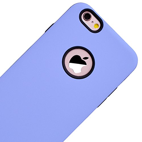 GrandEver iPhone 6/iPhone 6S(4.7 Zoll) Hülle Weiche Silikon Handyhülle 2 in 1 TPU Bumper Schutzhülle für iPhone 6/iPhone 6S(4.7 Zoll) Rückschale Klar Handytasche Anti-Kratzer Stoßdämpfung Ultra Slim R Lila