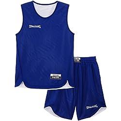 Spalding - Camiseta de baloncesto para adultos, color Bleu Roi/Blanco, talla XS/152