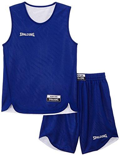 Spalding Teamsport Doubleface - Completo sportivo Unisex - bambini, Blu (Royal/bianco), XXS/128