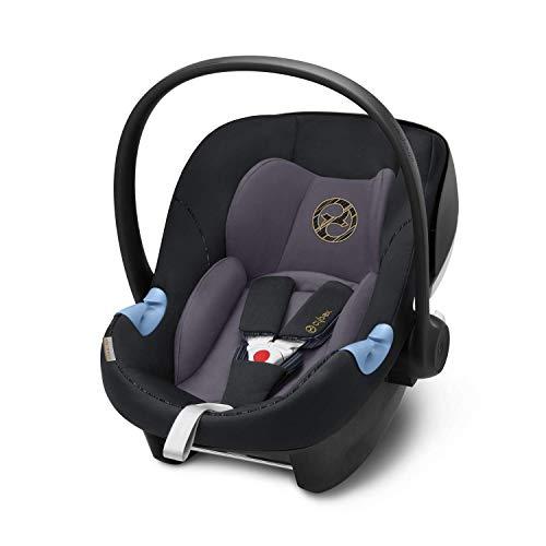 CYBEX Gold Seggiolino Aton M i-Size, Incl. riduttore per neonato, Per bambini da 45 cm a 87 cm, Max. 13 kg, Premium Black
