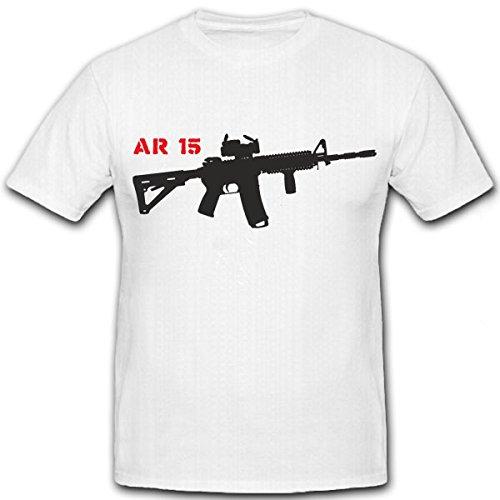 Ar15 Sturmgewehr Amerika Waffe Ordonnanzwaffe Semi Auto Gewehr Vollautomatik Us Army Usaf M16 - T Shirt Herren XL #7362 (Us M16 Army)