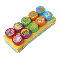 WINJEE,10Pcs/set Children Seal Cartoon Cute Stamp Tools Teacher Comment Encourages Puzzle Fun Atomic Stamps Style-8