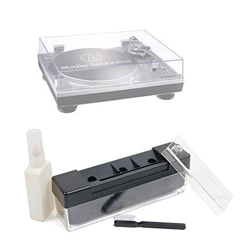 Duragadget Kit de Nettoyage pour Audio-Technica AT-LP60USB (AT-LP60-USB), AT-LP120USB (AT-LP120-USB), AT-LP1240-USB platines vinyles - Brosse et Liquide de Nettoyage (100ml)