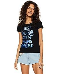 Flying Machine Women's Regular Fit T-Shirt