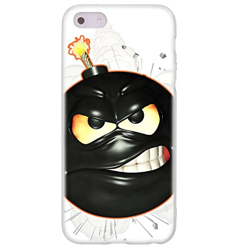 OOH!COLOR 025605_ape001 Kitty mit Muster weiche Silikon TPU Bumper-Hülle für Apple iPhone 5/5s klar HMI004