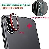 Gusspower Cámara Protector de Lente para iPhone XS/XS MAX, Aleación de Aluminio Anillo de Metal iPhone XS/XS MAX Camera Lente Funda Protectora y Camera Lente Protector de Pantalla (Rojo, iPhone XS)