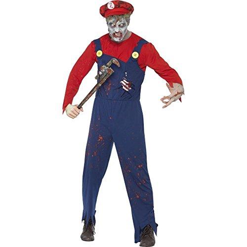 Smiffys Halloween Herren Kostüm Zombie Klempner Handwerker Zombiekostüm Gr.M