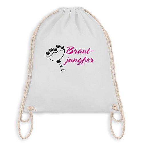 JGA Junggesellinnenabschied - Brautjungfer - Turnbeutel I Gym Bag Weiß