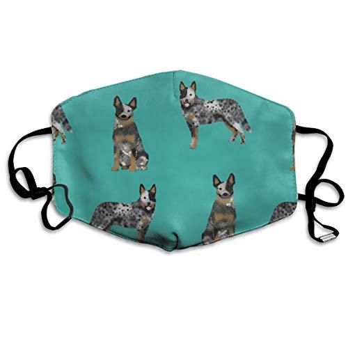 Blauer Hundemantel mit australischem Rind für Rinder, Hunde-Liebhaber, Staubmaske, Anti-Verschmutzung, waschbar, wiederverwendbare Mundmasken (Pediatric Maske)