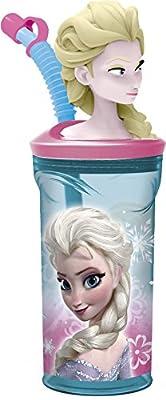 Disney 55766/DFR de 9035-Frozen 3D-Vaso con Pajita por Disney