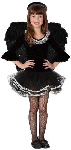 Imagen de disfraz de ángel negro niña  de 5 a 6 años