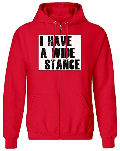 Ich Habe eine breite Haltung - I Have A Wide Stance Zipper Hoodie Jumper Pullover for Men 100% Soft Cotton Mens Clothing Small - Haltung Hoodie