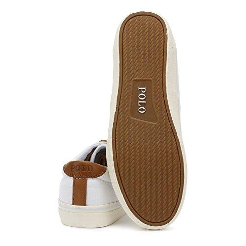 Ralph Lauren Herren Weiß Thorton Sneakers-UK 6