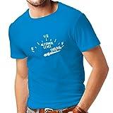 lepni.me Männer T-Shirt Noch Ein Getränk Bitte! - Partykleidung, lustige Alkoholzitate (X-Large Blau Weiß)