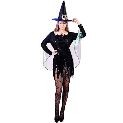 Für Classic Hexe Erwachsene Kostüm - SEA HARE Erwachsenen Frauen Halloween Classic Hexe Kostüm
