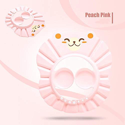 Baby Shampoo Artefakt, wasserdichter Gehörschutz, Kleinkind Shampoo Badekappe, verstellbar-Pink