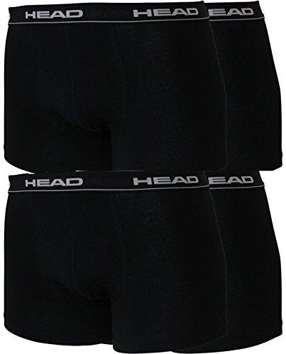 Head 4er Pack Herren Boxershorts Sparpack ohne Eingriff 841001001 schwarz ( 200)