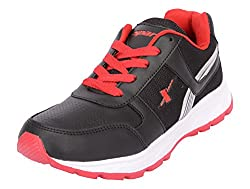 Sparx Mens Black & Red Mesh Running Shoes - 7 UK