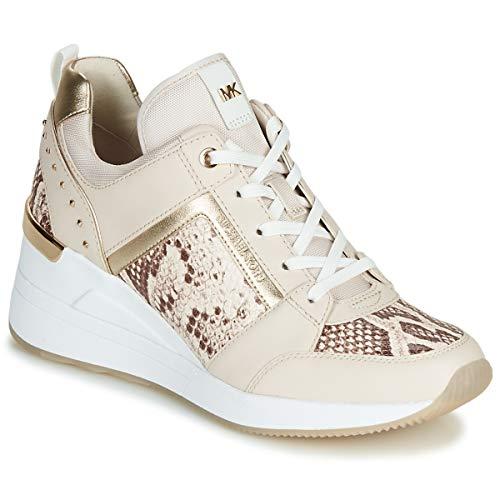 Michael MICHAEL KORS Georgie Trainer Sneaker Damen Creme - 38 - Sneaker Low